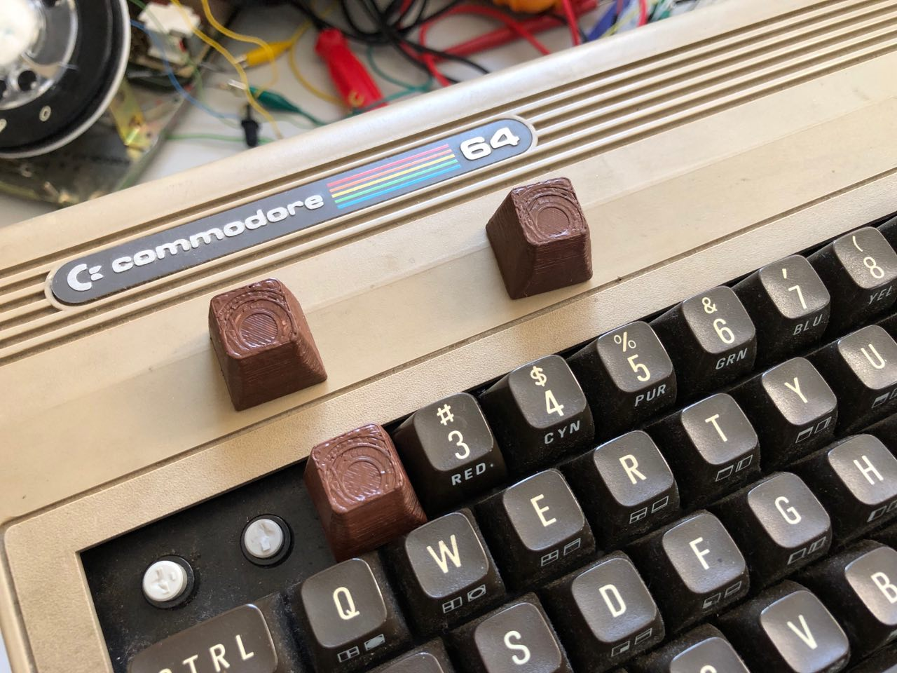 3D printed key for Commodore 64